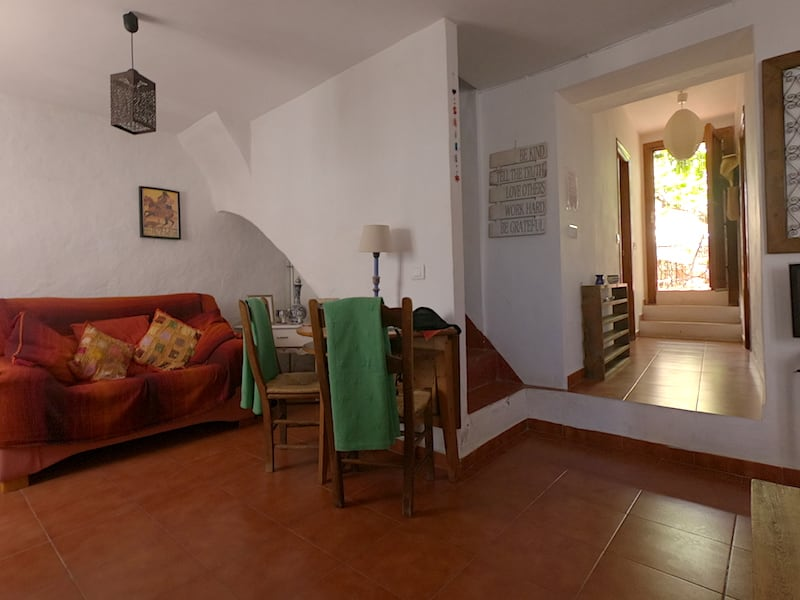 Lounge at Lemon Tree Patio featuring terracotta tiles and white wash walls